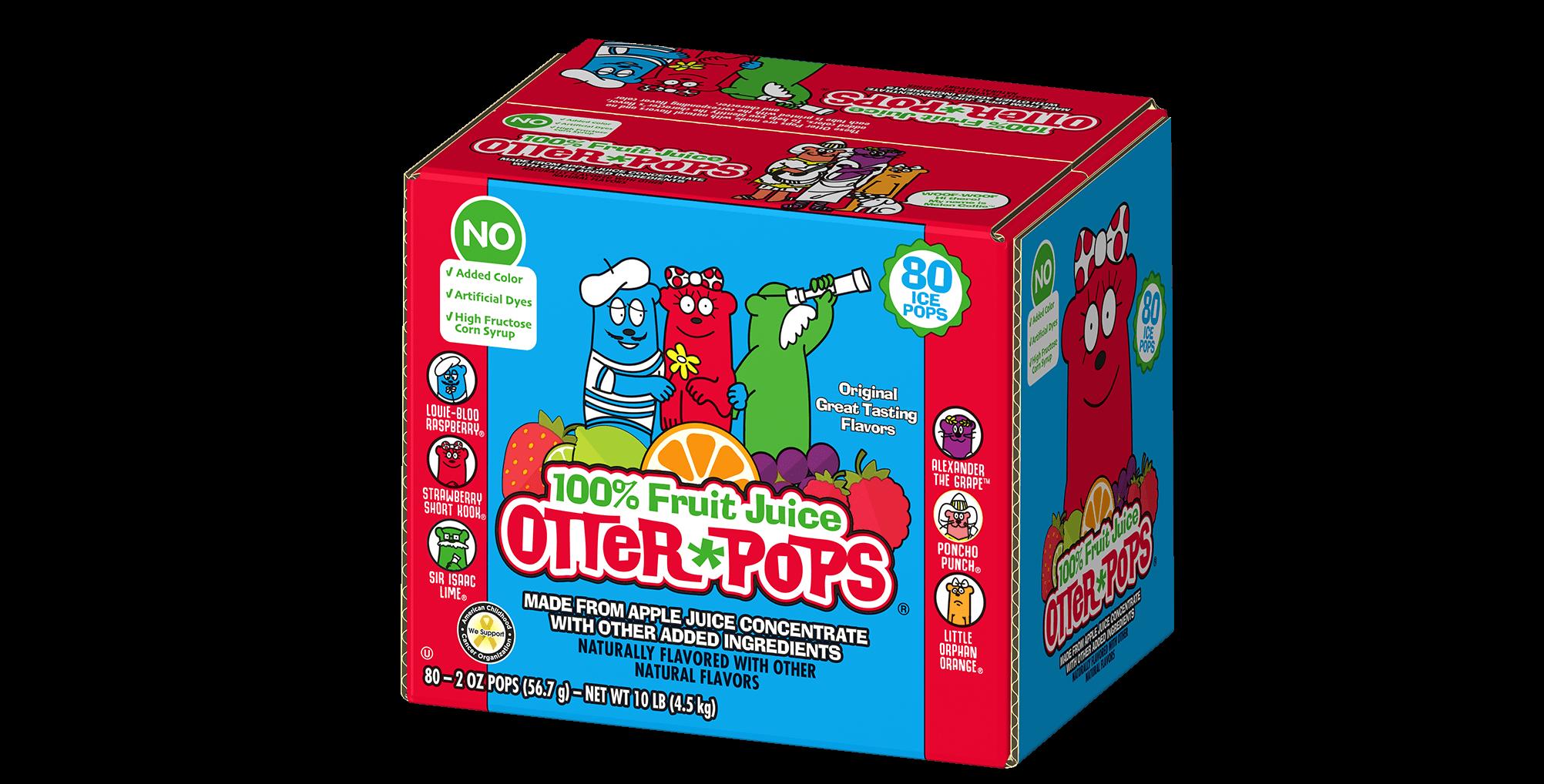 80 ct/2 oz – 100% Fruit Juice Colorless Ice Pops