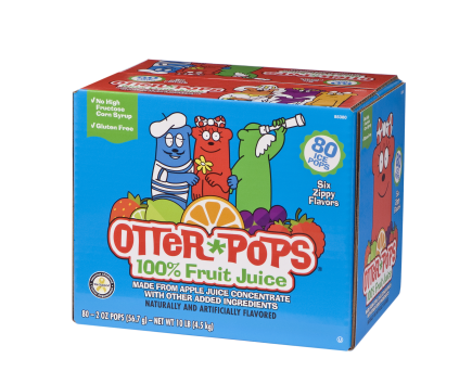 80 ct/2 oz – 100% Fruit Juice Ice Pops