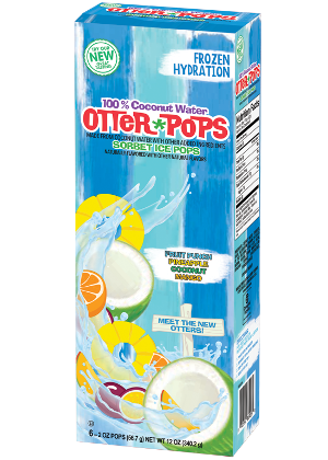NEW! 6 ct/2 oz – 100% Coconut Water Ice Pops